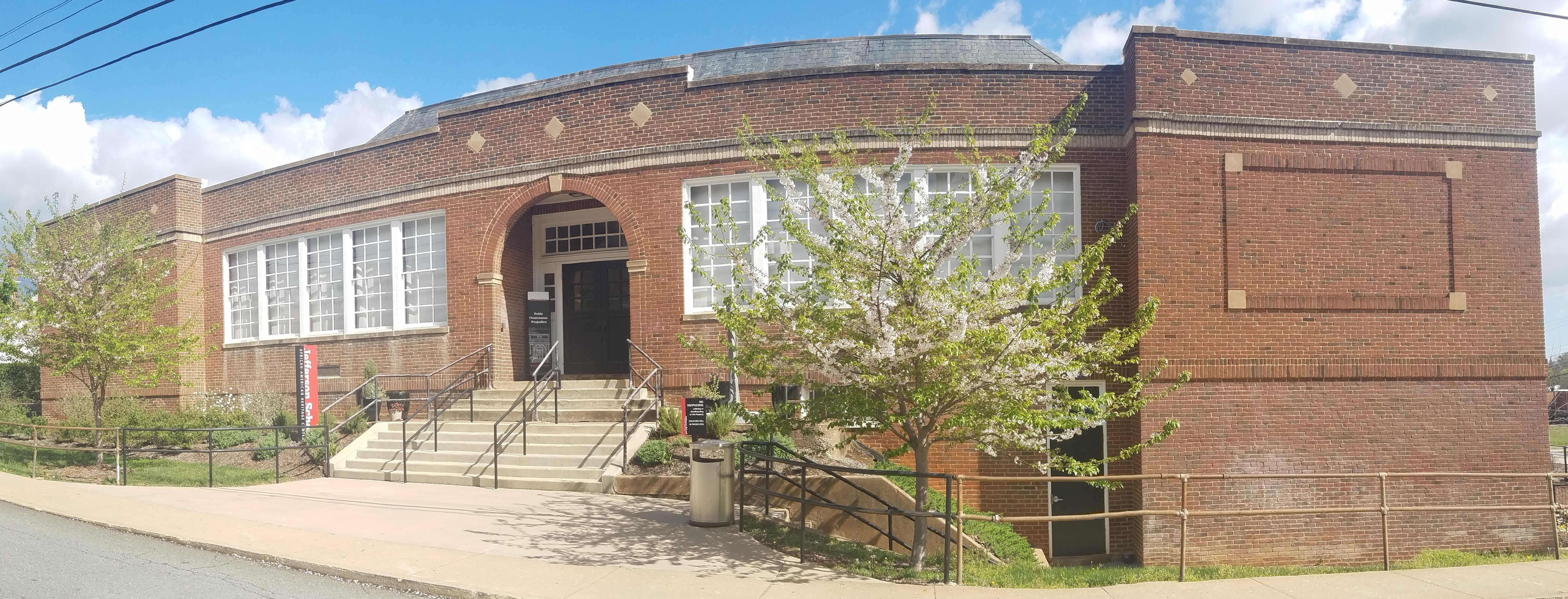 Commerce Street entrance to Jefferson School African American Heritage Center