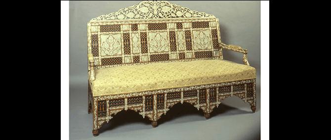 Sofa, Damascus, Syria, 19th century, mid-19th century.