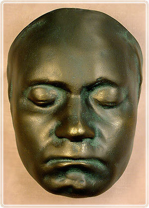A copy of Beethoven's death mask in the possession of the Brilliant Center