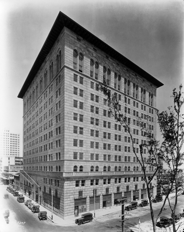 The Ingraham Building was built in 1927 at the height of the Florida Land Boom. Image obtained from Florida Memory.