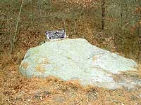 Sacrifice Rock (Courtesy of the Plymouth Antiquarian Society)