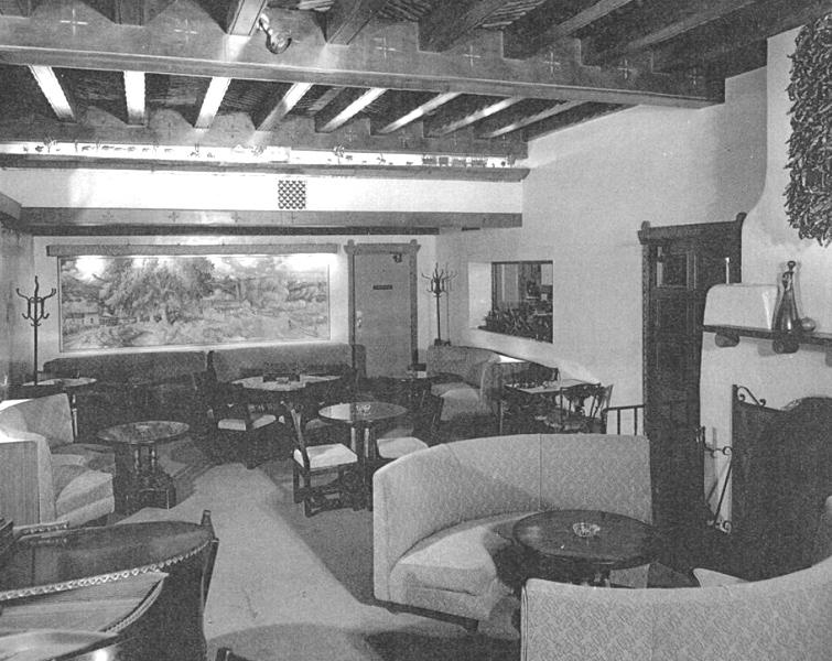 Lobby of Hotel Hilton circa 1940s-1950s