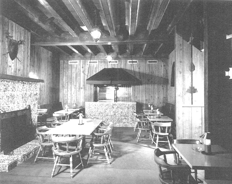 One of the cantinas of the hotel, crica 1940s-1950s