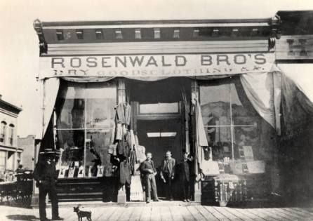 Original Rosenwald store in Albuquerque, circa 1900. Courtesy of the Albuquerque Museum