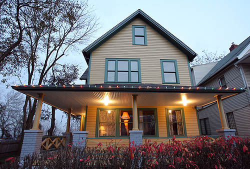 Ralphie's house has been restored to its movie splendor and is open year round to the public for tours.