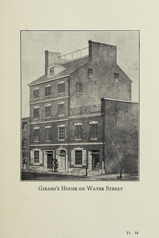 Print of Stephen Girard's house
