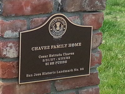A plaque noting the home's significance