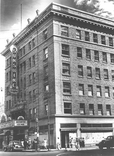 Circa 1940s-1950s photo of the Sunshine Building. Courtesy of the Albuquerque Museum
