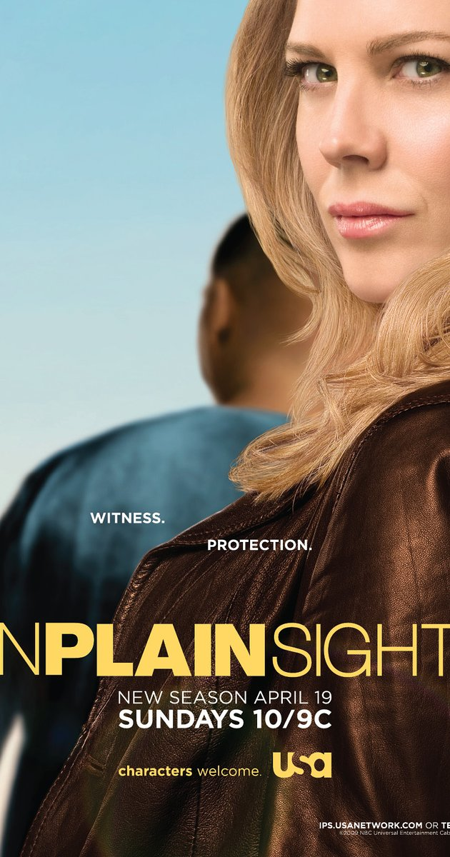 "Promotional ad for TV show, ""In Plain Sight."" (2008-2012)"