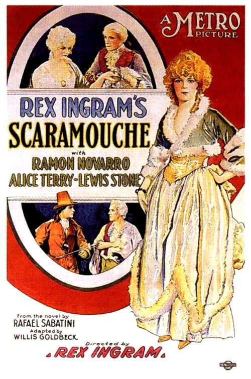 "Promotional ad for 1923 film, ""Scaramouch."""