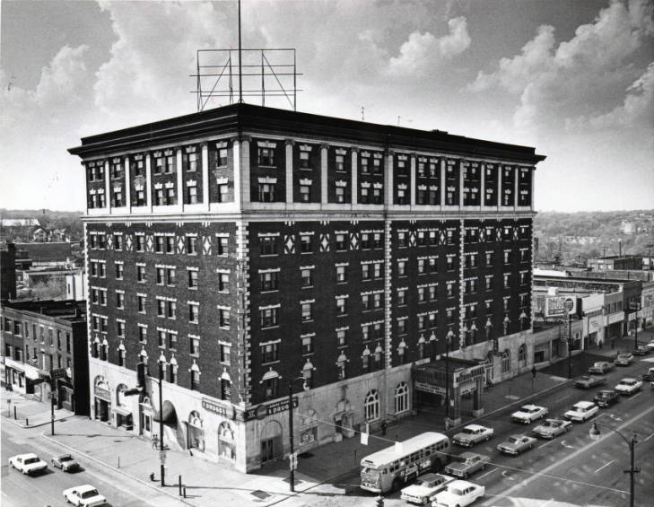 The Portage Hotel in 1963