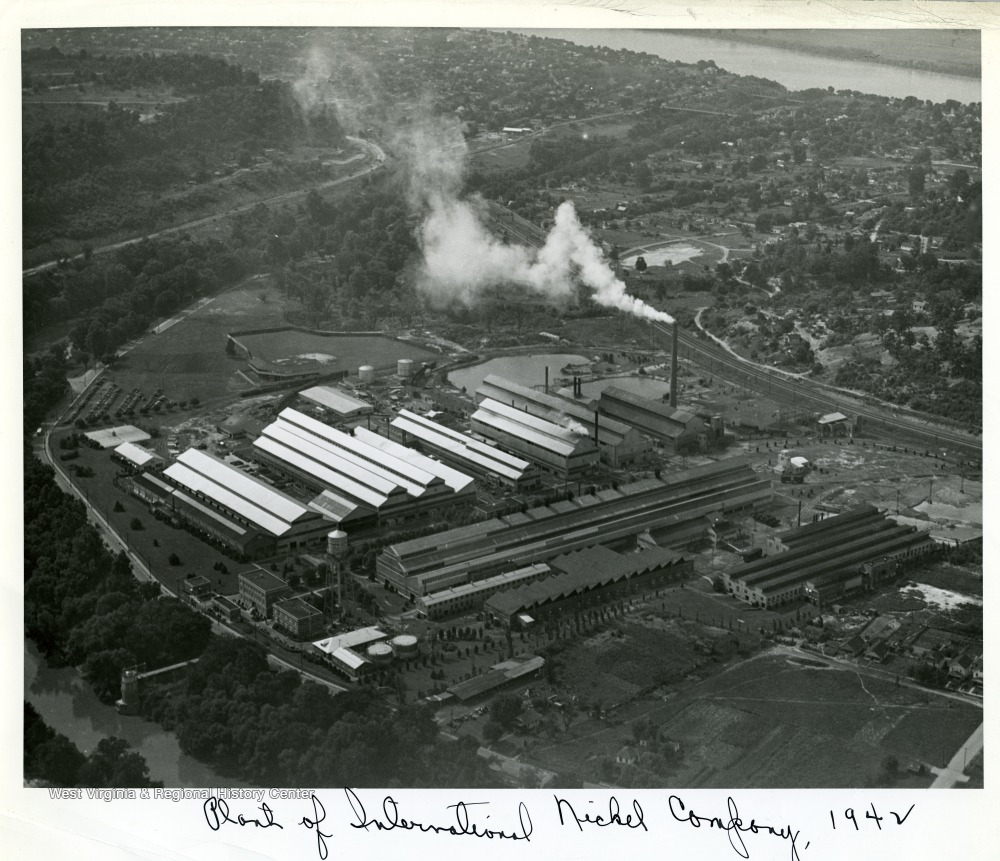 Aerial view of the plant, 1942