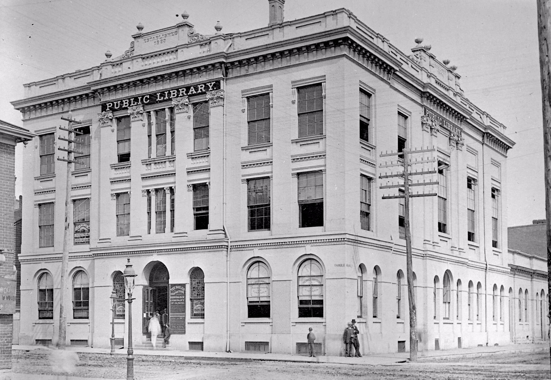 Mechanics' Institute, Toronto, 1884.  This is where Ladies' Association had their founding meeting in May 1951.