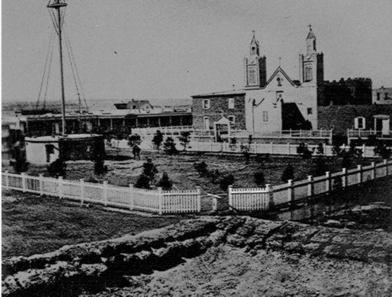 Circa 1890s photo of San Felipe de Neri
