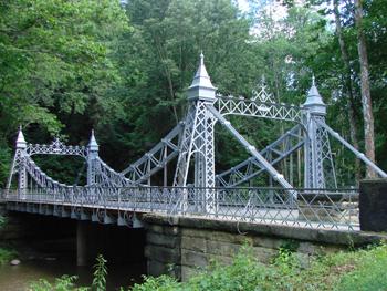 The Mill Creek Park Suspension Bridge