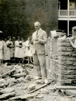 President White at the Corner Stone Ceremony