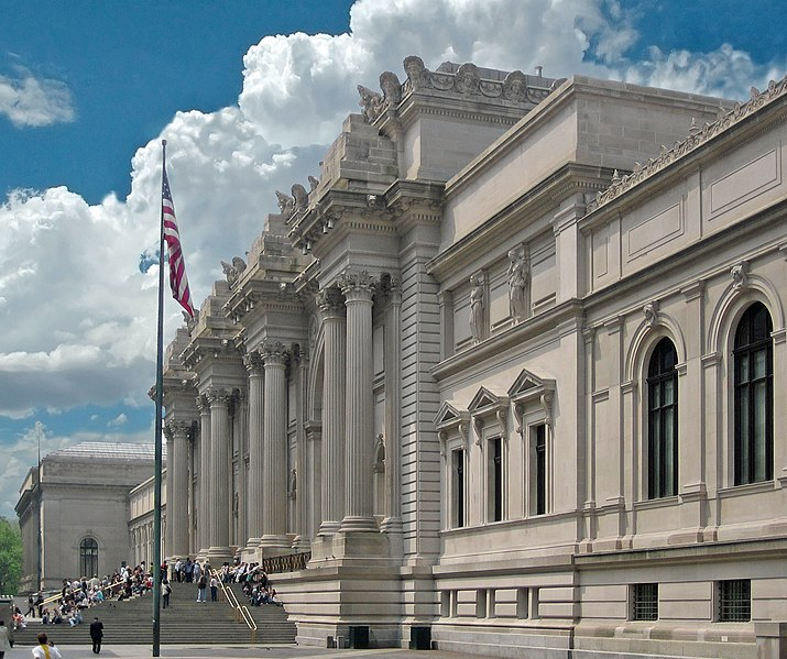 Entrance facade of the Met.