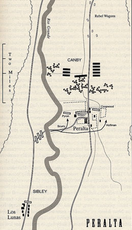 Map of the Battle of Peralta