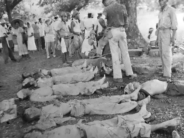 Some of the dead from the Bataan Death March