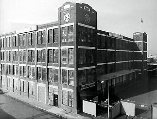 A black and white shot of the Mill.