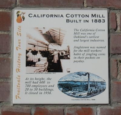 A plaque commemorating the Mill.