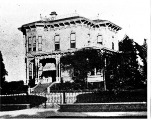 A black and white shot of the house.