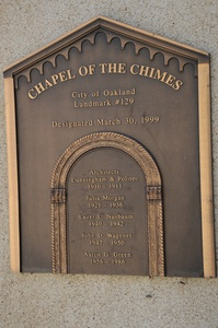 A plaque commemorating the chapel.