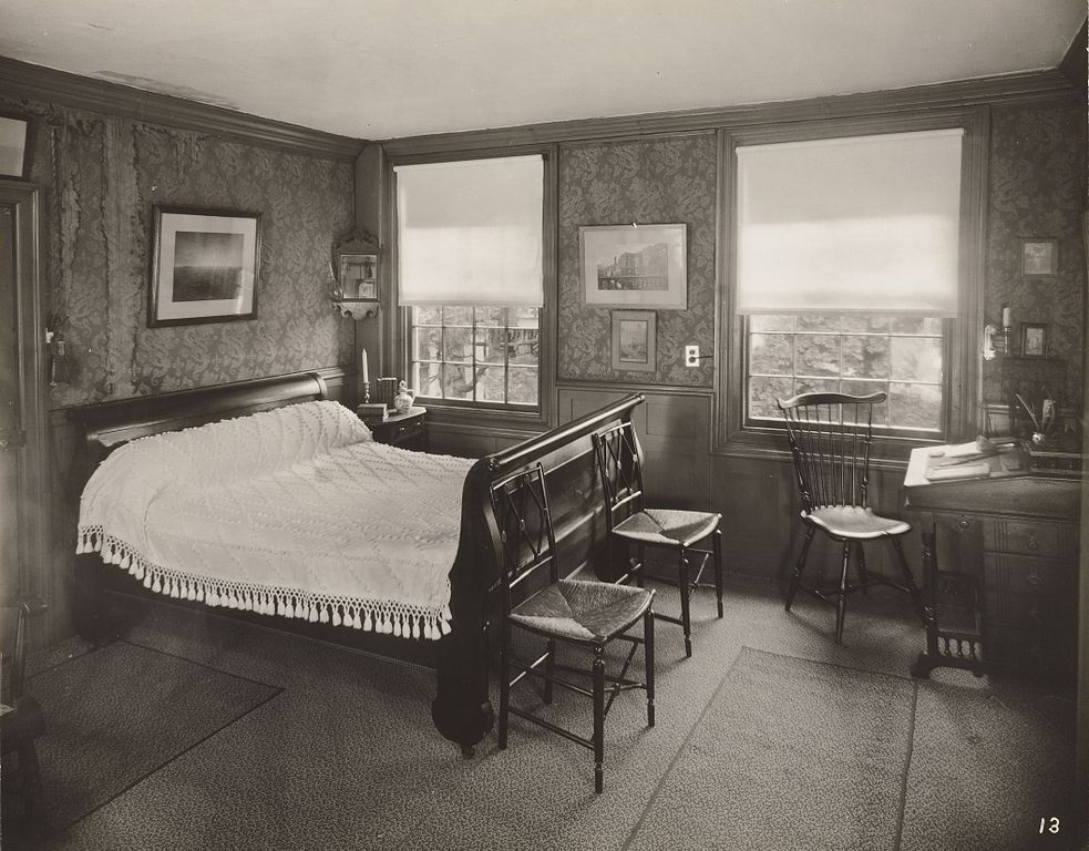 A photo of Jewett's bedroom possibly taked by her nephew, Theodore Jewett Eastman, prior to his death in 1931.