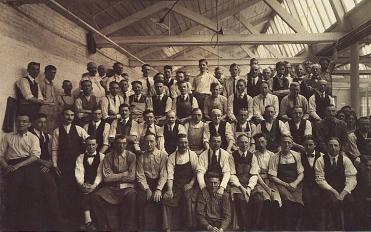 Early Hungarian American employees of New Brunswick's Johnson & Johnson (image from Kilmer House)