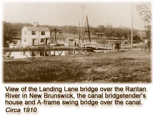 The D&R Canal, 1910 (image from the Delaware & Raritan Canal State Park)