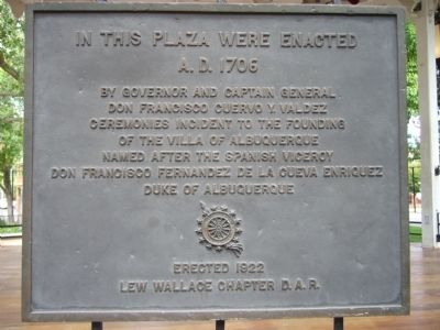 """In This Place Were Enacted"" plaque"