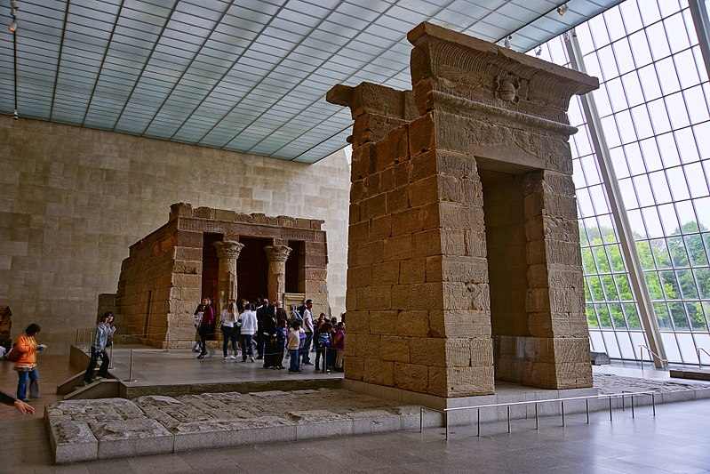 The Temple of Dendur.