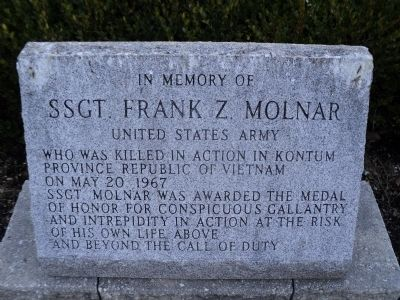 The SSgt. Frank Z. Molnar monument