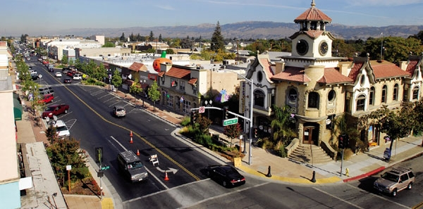 A photo of historic Gilroy, California.