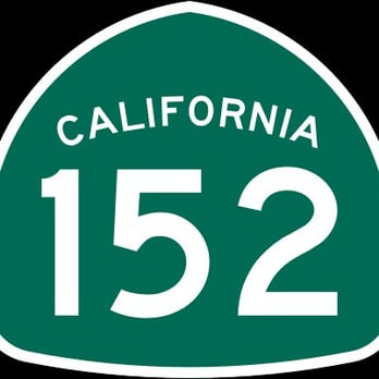 The roadside signs that mark California State Highway 152.