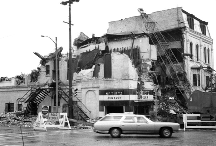 Demolition of the Theater.
