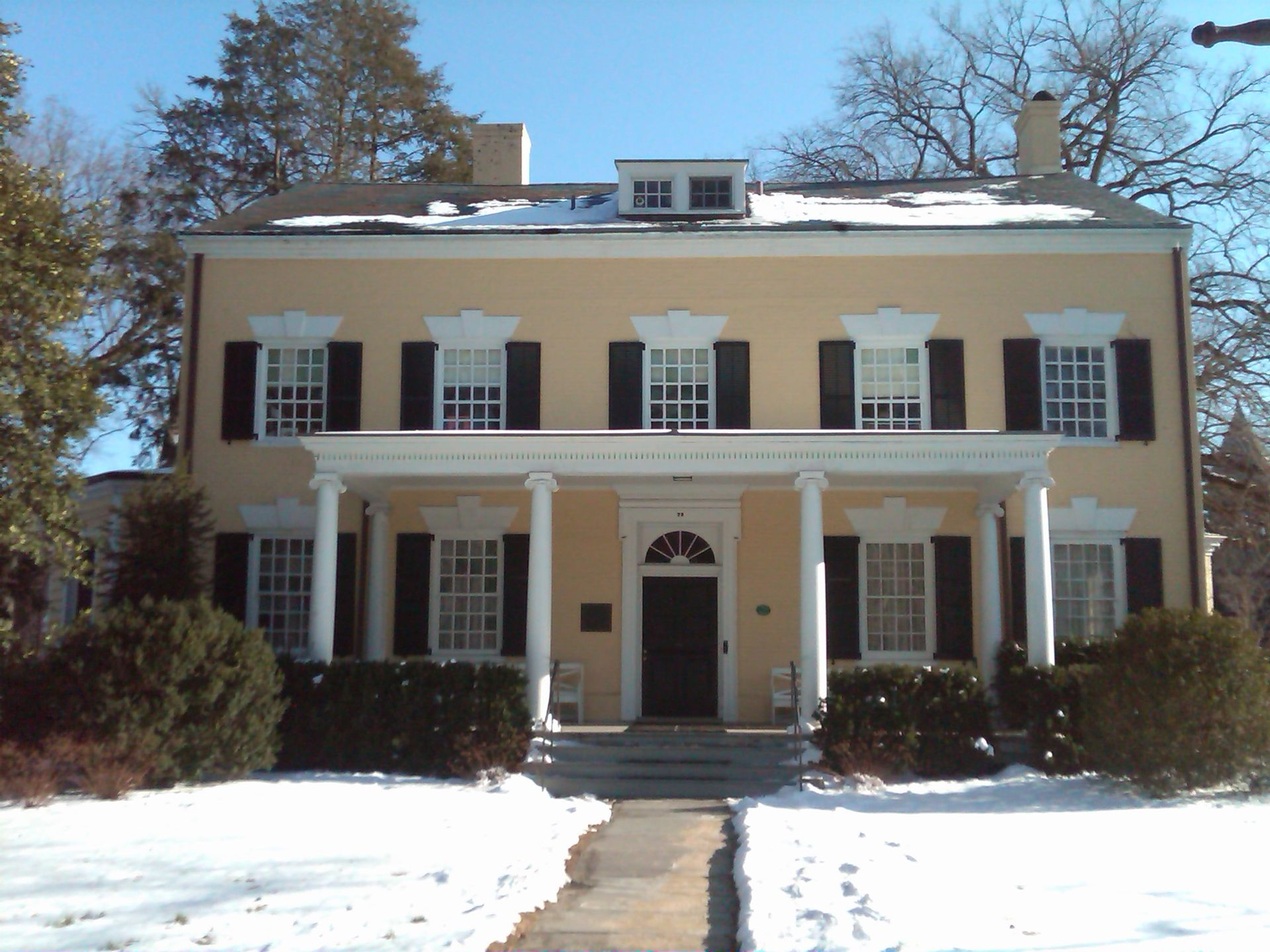 The MacLean House was built in 1756 and served as the residence of the College of New Jersey and later Princeton University presidents.