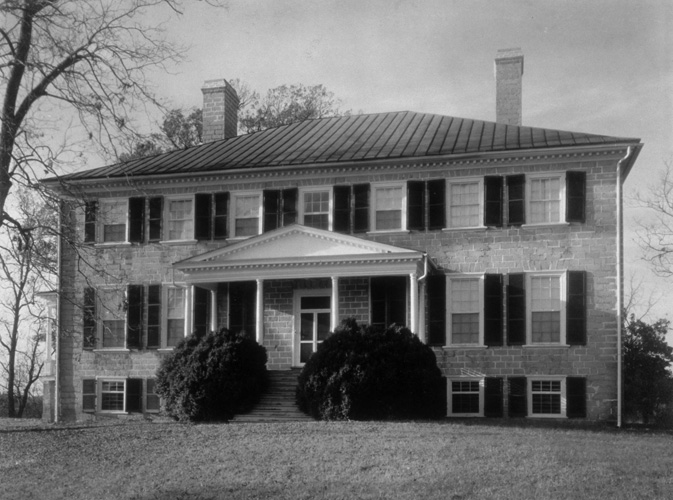 Prestwould Plantation, the home of Sir Peyton Skipwith and Lady Skipwith, was constructed during the 1790s. Photograph in 1939  World's Fair Commission Photograph Collection, Visual Studies Collection, Library of Virginia.