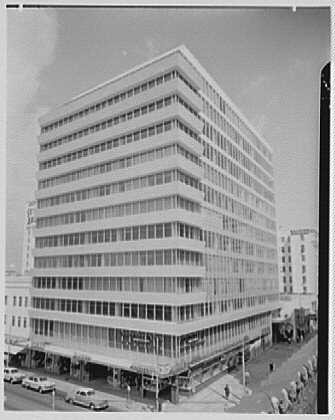 The exterior of the Ainsley Building has changed little since its construction in 1952. Image obtained from the Library of Congress.