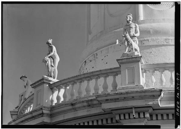 Detail of statues on the Water Tower (image from Historic American Building Survey)