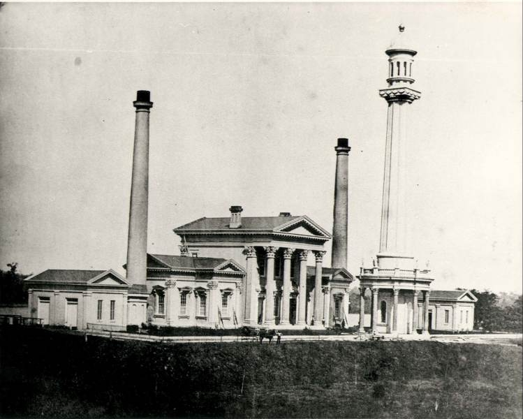 Water Tower and Engine House circa 1860 (image from Go To Louisville)