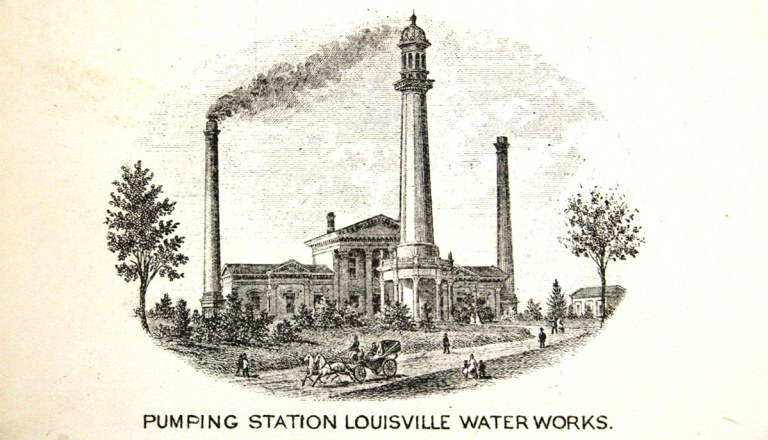 1875 engraving of the station (image from Broken Sidewalk)