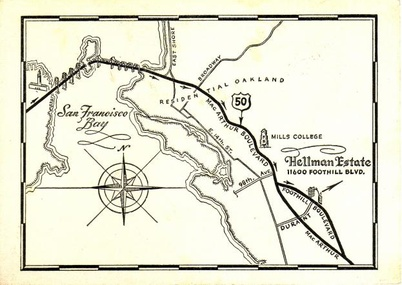 An old map for directions to the house.