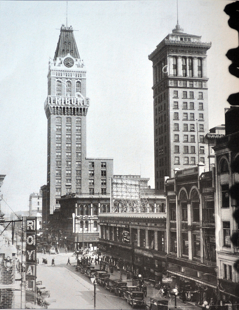 An old view of the Tower from down the street.