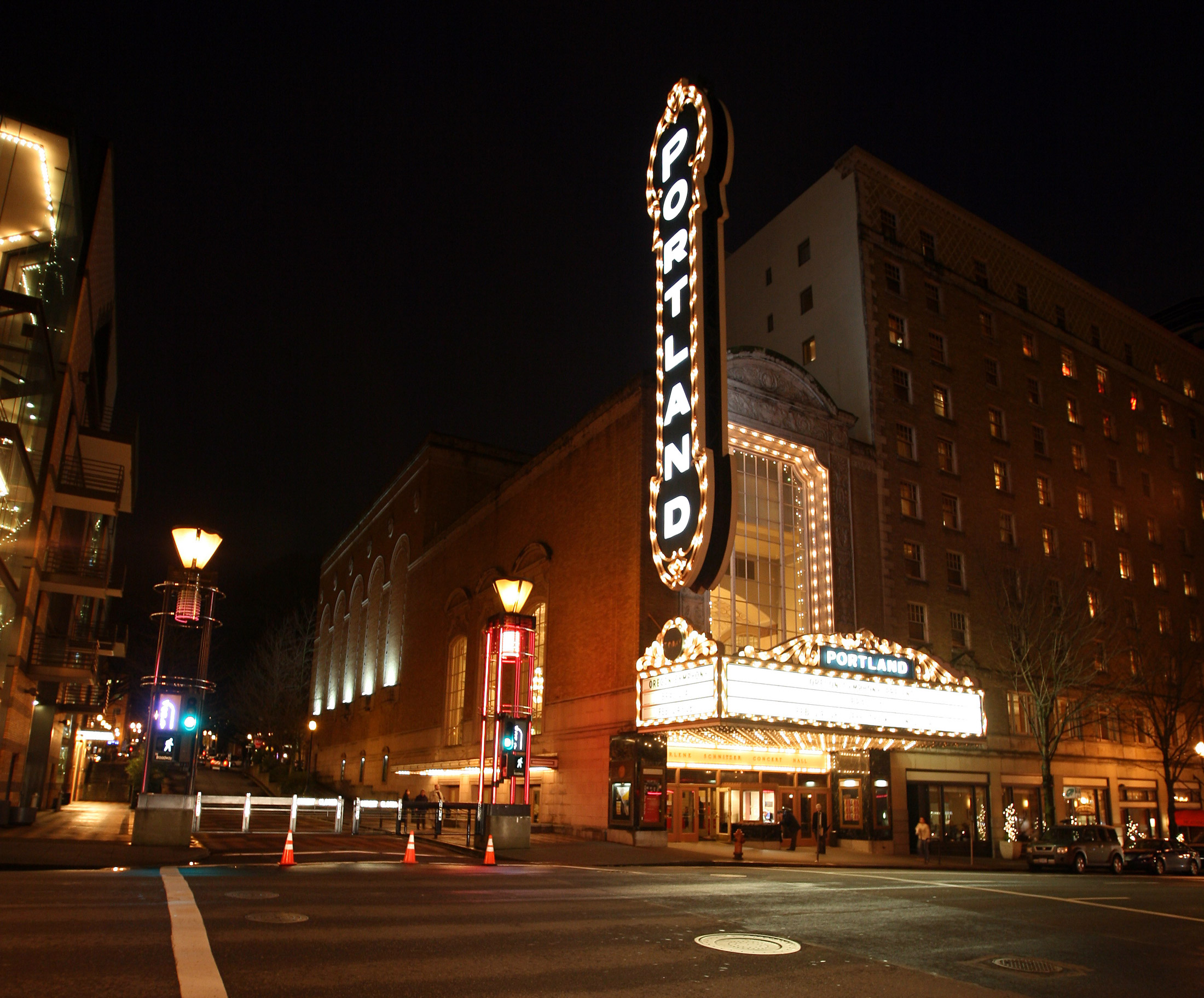 Constructed as a movie palace in 1928, this historic structure is now home to the Arlene Schnitzer Concert Hall.