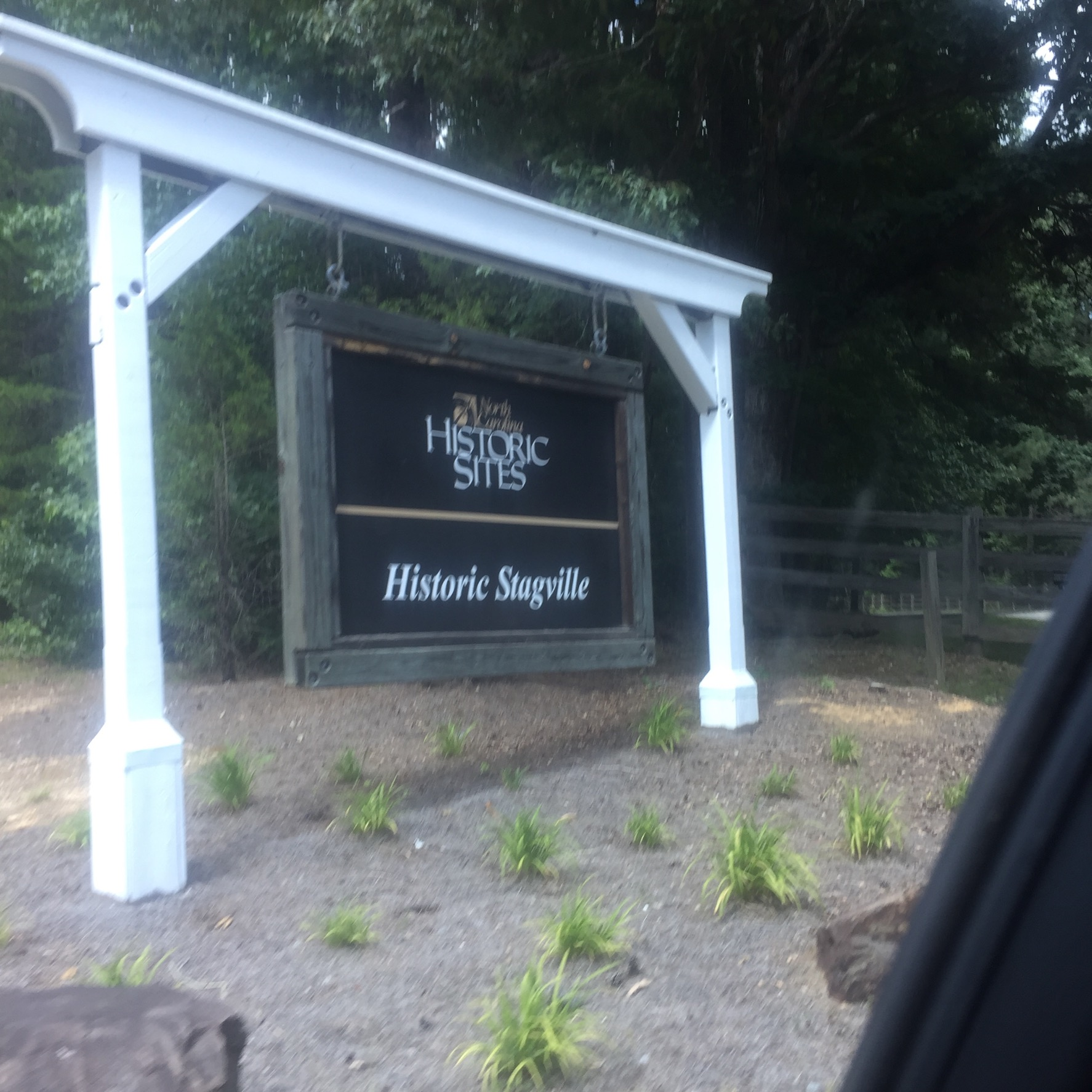 The entry sign to Stagville Plantation.