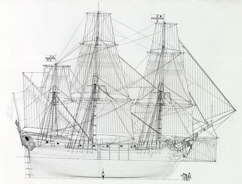 A French vessel similar to Queen Anne's Revenge