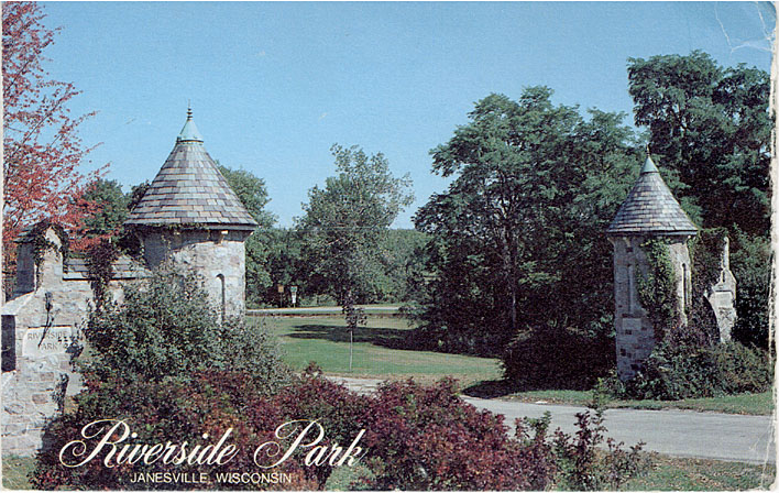 Postcard of Riverside Park.