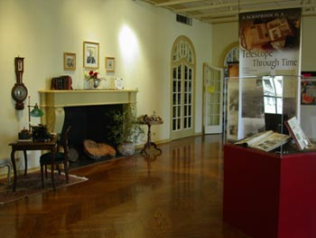 Inside the California History Center, formerly Le Petit Trianon.