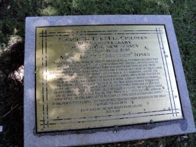 The marker is located in Palmer Square. Photo: Bill Coughlin, via the Historical Marker Database